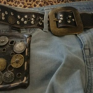 Accessories - Leather  Coin Wallet /Belt